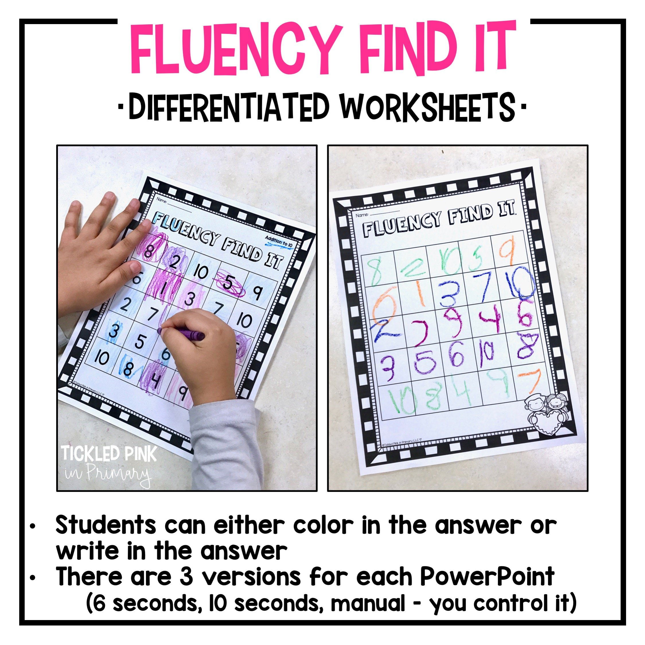 Halloween Fluency Find It Kindergarten Tickled Pink In