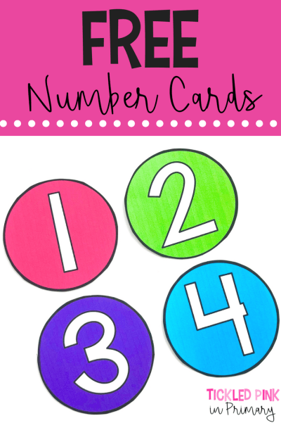 FREE number cards! Using a number system with your students makes labeling things for Back to School a breeze!