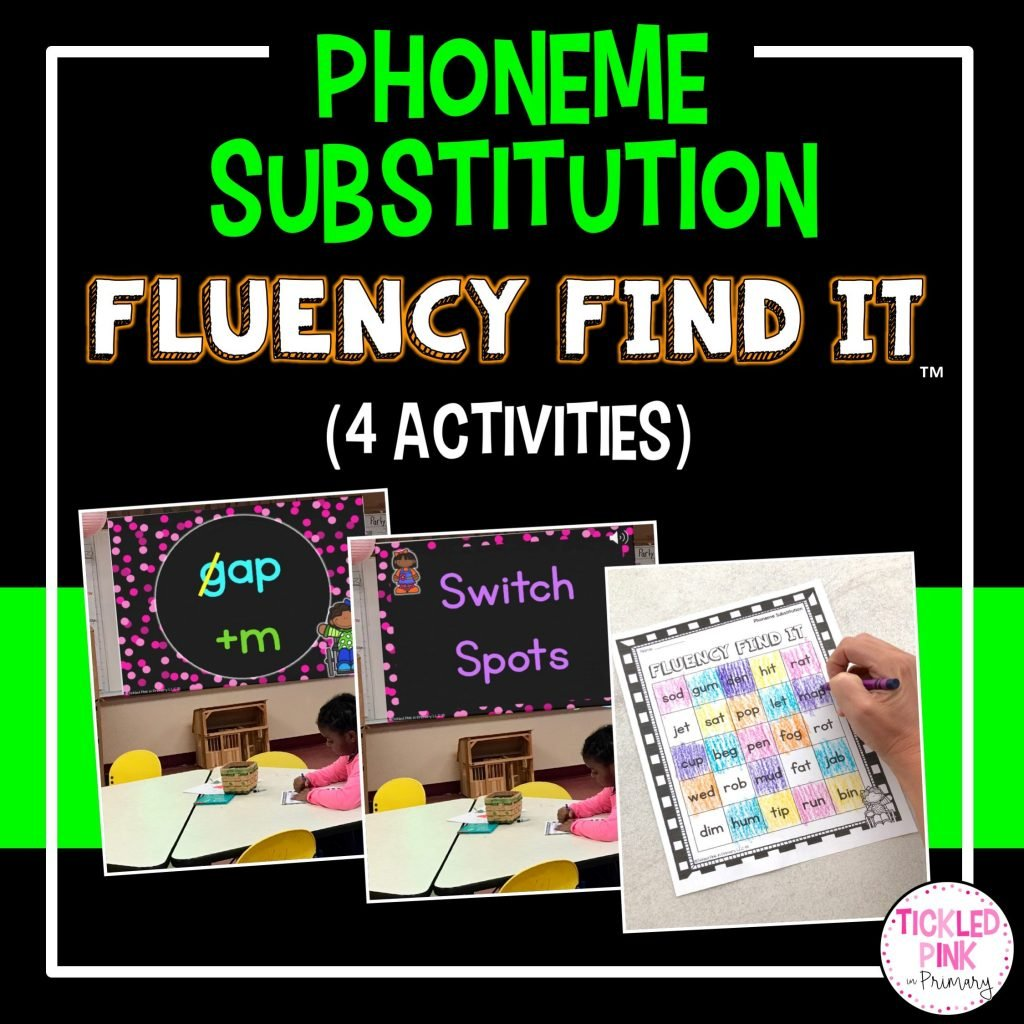 Phoneme Substitution Fluency Find It Tickled Pink In Primary