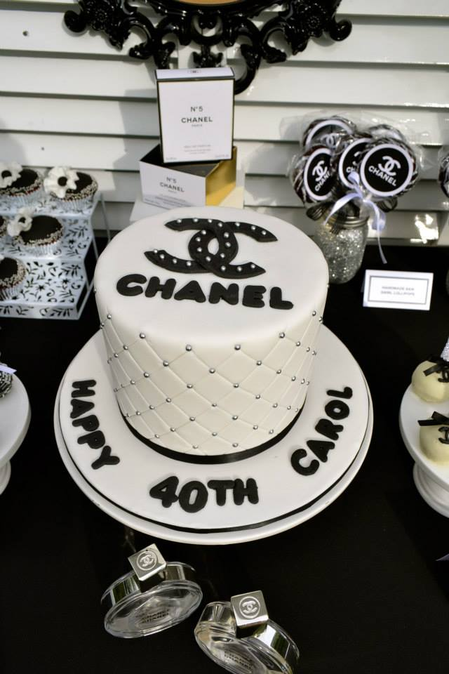 Chanel themed party cake