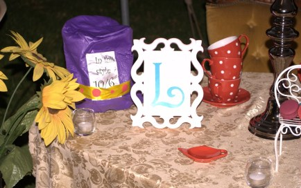 Alice in Wonderland party table 2