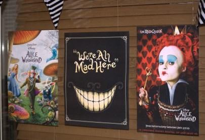 Movie posters tim burtom themed party