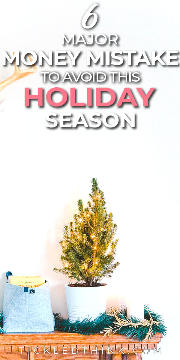 It's always a challenge to stay on top of our finances during the holiday season. Enjoy the holidays this year without stressing over your finances by avoiding these holiday money mistakes. So, you can enjoy the season with your finances still intact!