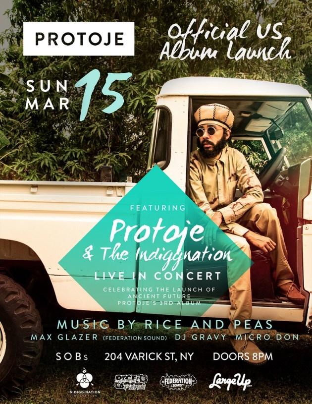 """Protoje """"Ancient Future"""" album launch flyer"""
