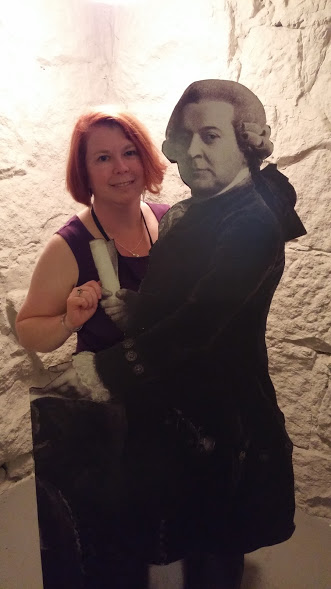The author and President John Adams