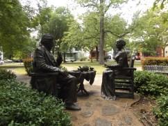Douglass and Anthony having tea