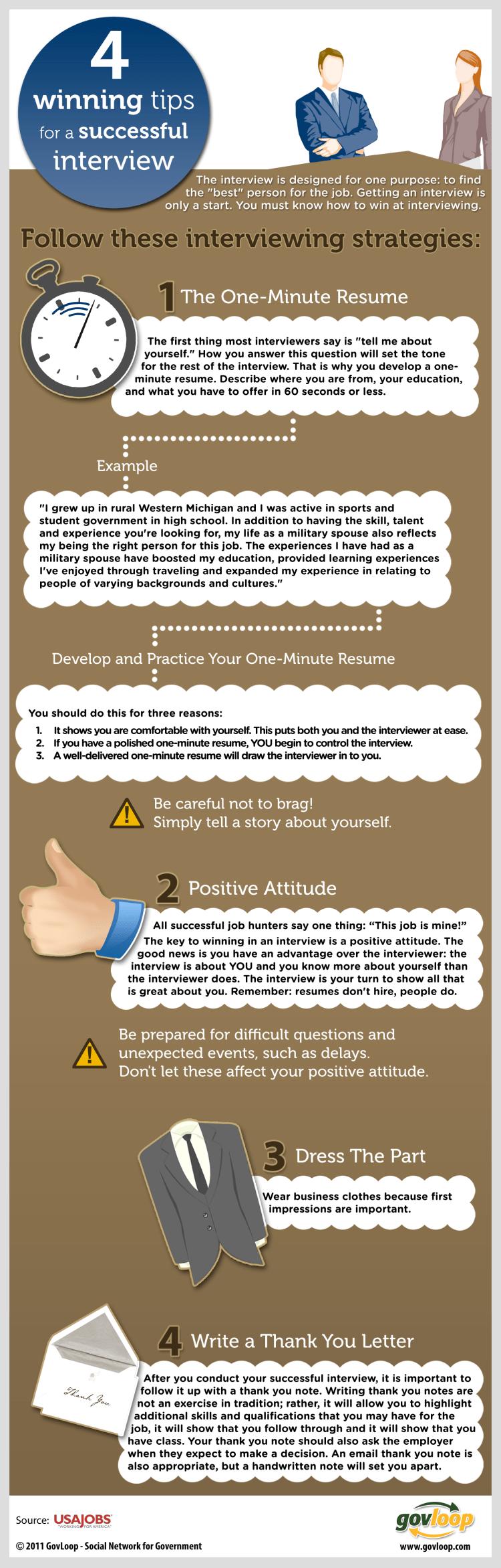 4 consejos para una buena entrevista de trabajo
