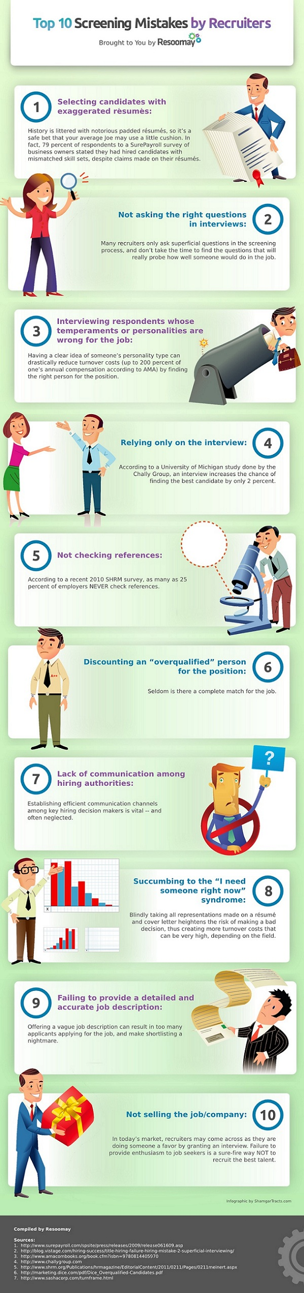 Los 10 errores más habituales de la selección de personal
