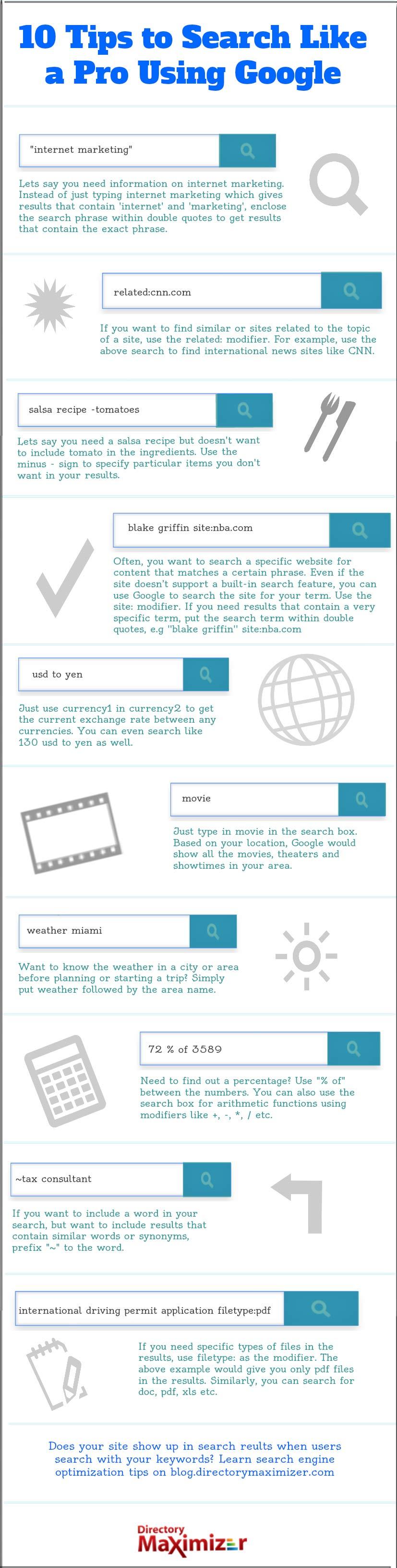 10 consejos para usar Google como un profesional