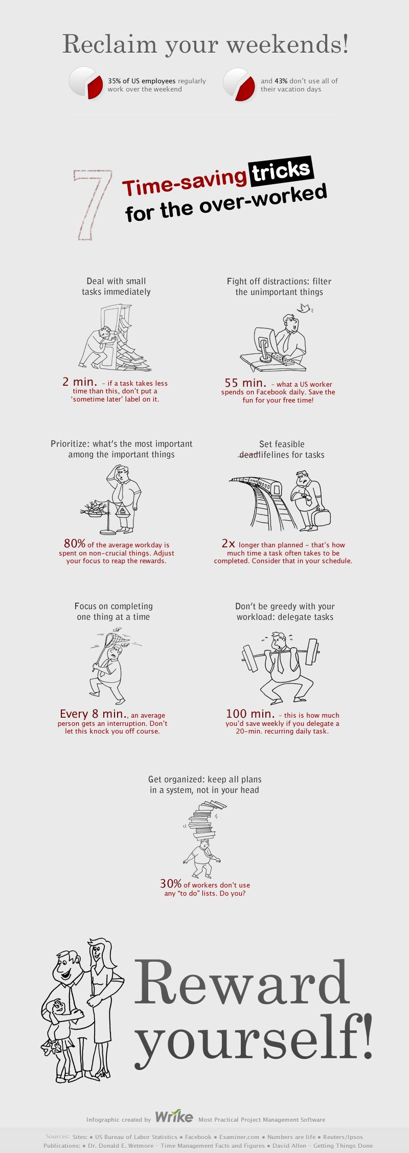 7 trucos de ahorro de tiempo cuando hay exceso de trabajo