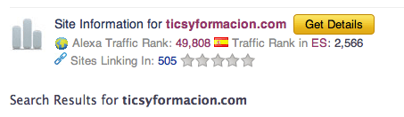 Ranking de http://ticsyformacion.com