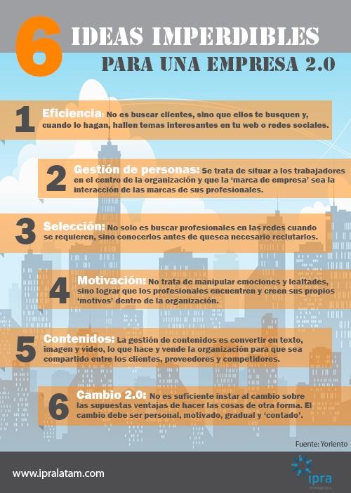 6 ideas imperdibles para una empresa 2.06 ideas imperdibles para una empresa 2.0