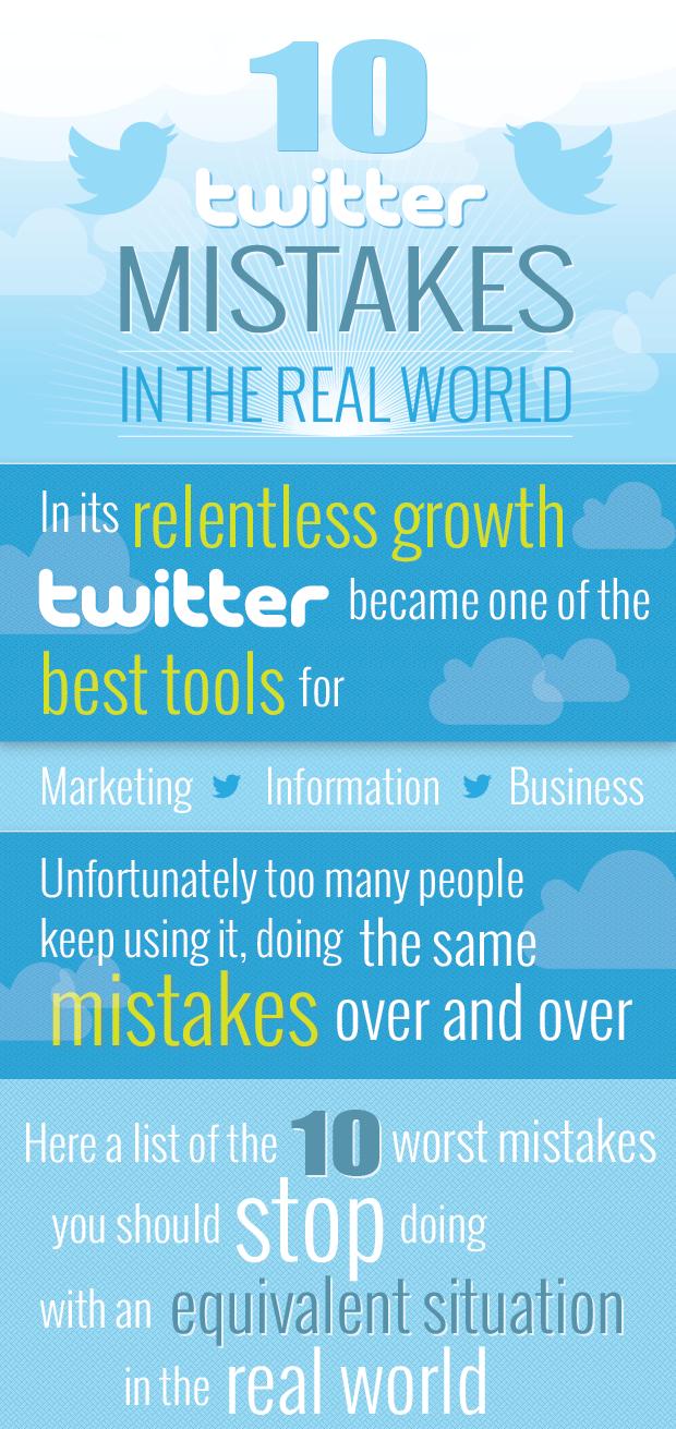 10 errores en Twitter que se cometen en la vida real