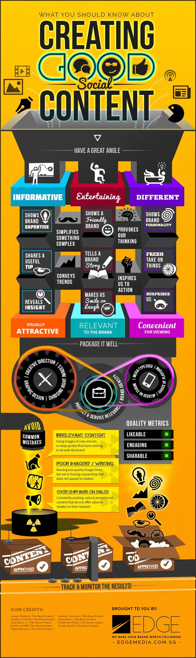 Cómo crear buen contenido Social