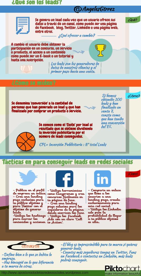 ¿Qué son los leads? #infografia #infographic #marketing - TICs y Formación
