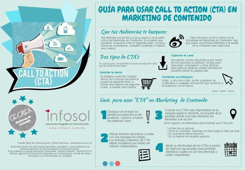 Guía para hacer llamadas a la acción (CTA) en marketing de contenido