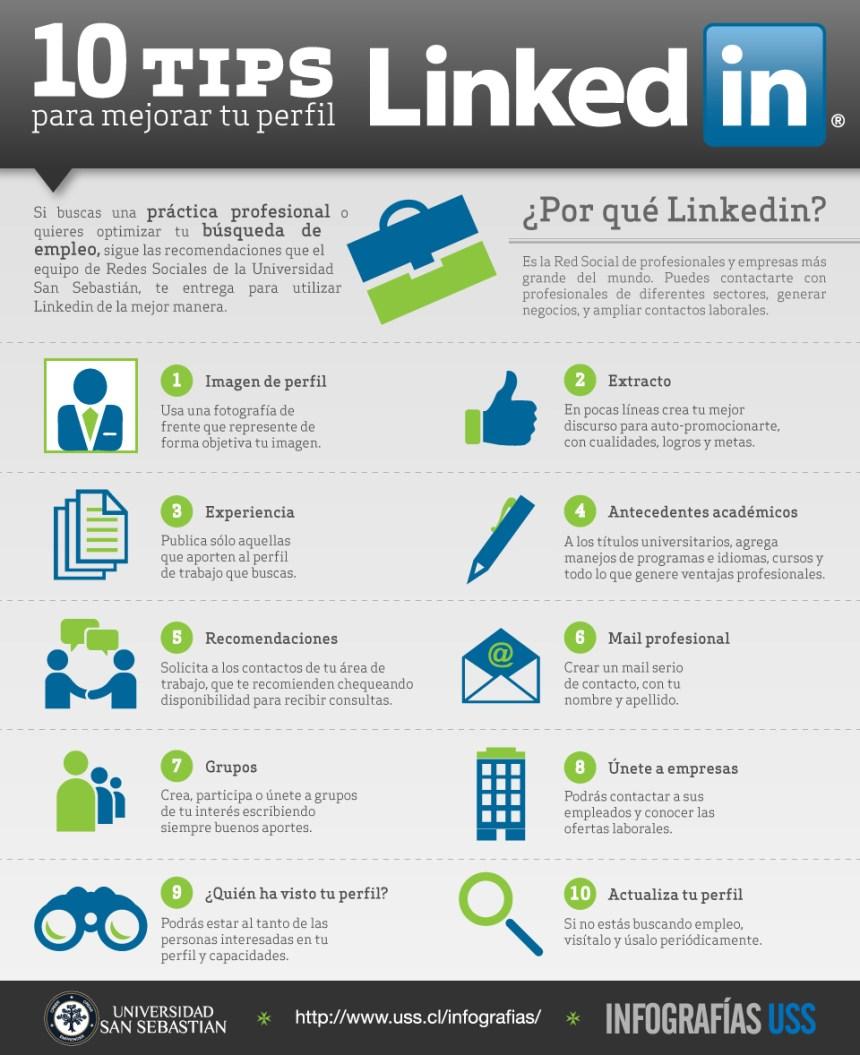 10 consejos para mejorar tu perfil de Linkedin