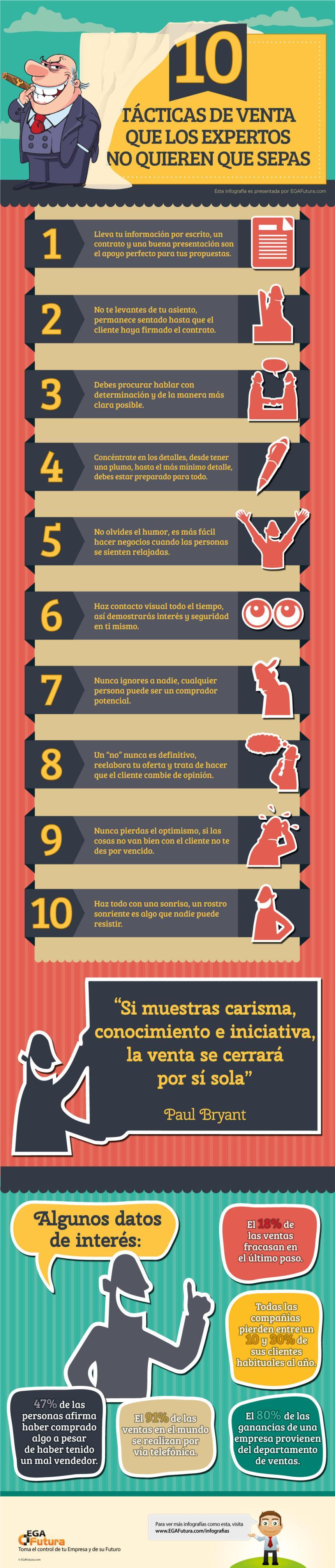 10 tácticas de venta que los expertos no quieres que conozcas