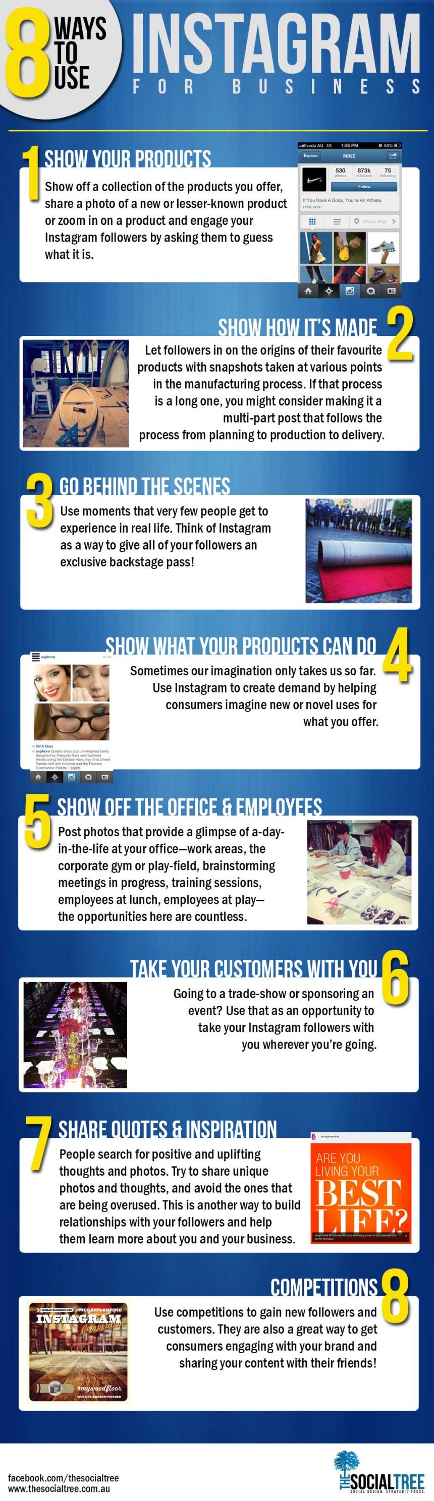 8 formas de usar Instagram para tu empresa