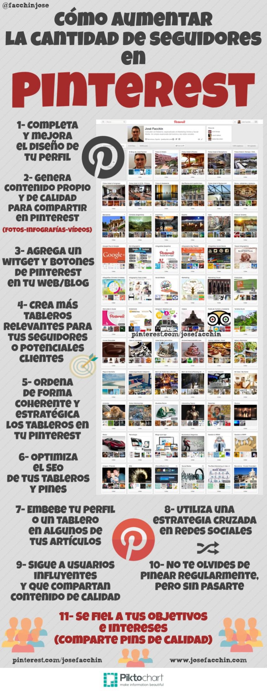 Cómo aumentar seguidores en Pinterest