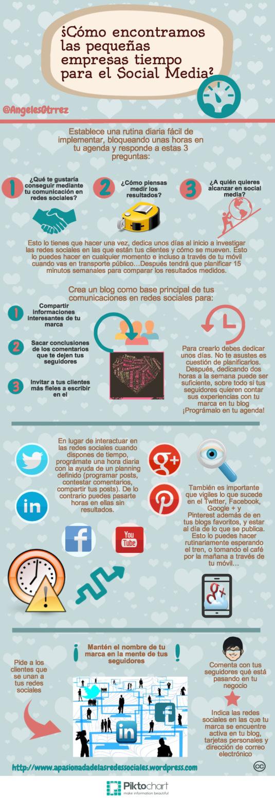¿De dónde saca tiempo una pequeña empresa para Redes Sociales?
