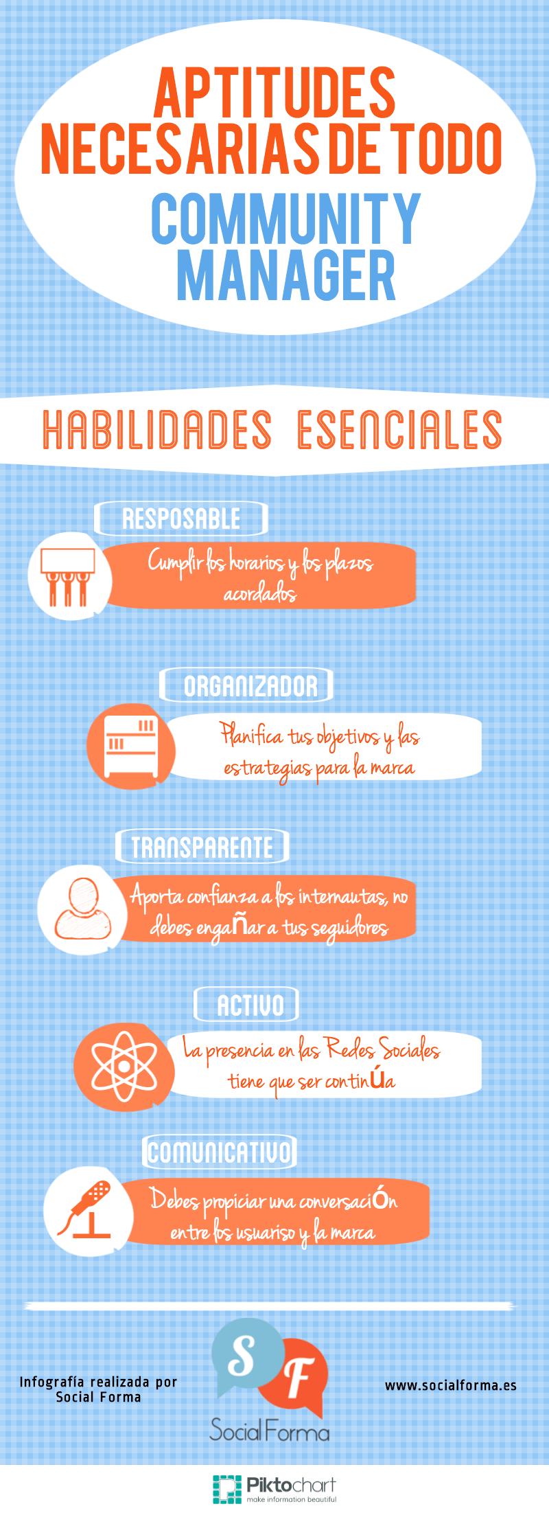 Habilidades esenciales del Community Manager