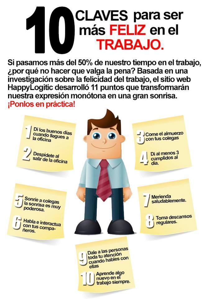 10 consejos para ser más feliz en el trabajo