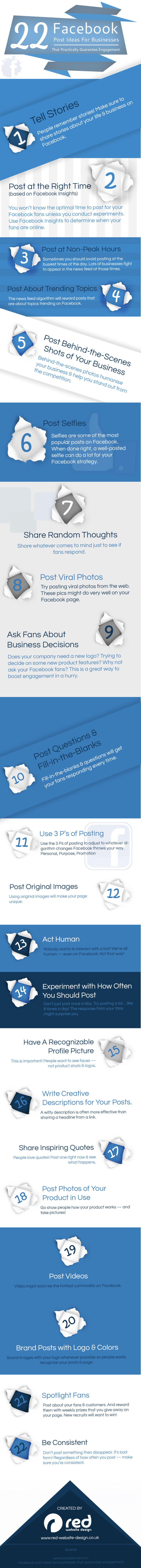 22 ideas de post para el FaceBook de tu empresa