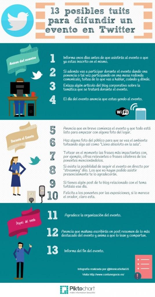 13 consejos para tuitear un evento