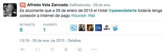 Tweet al Hotel Paseo del Arte