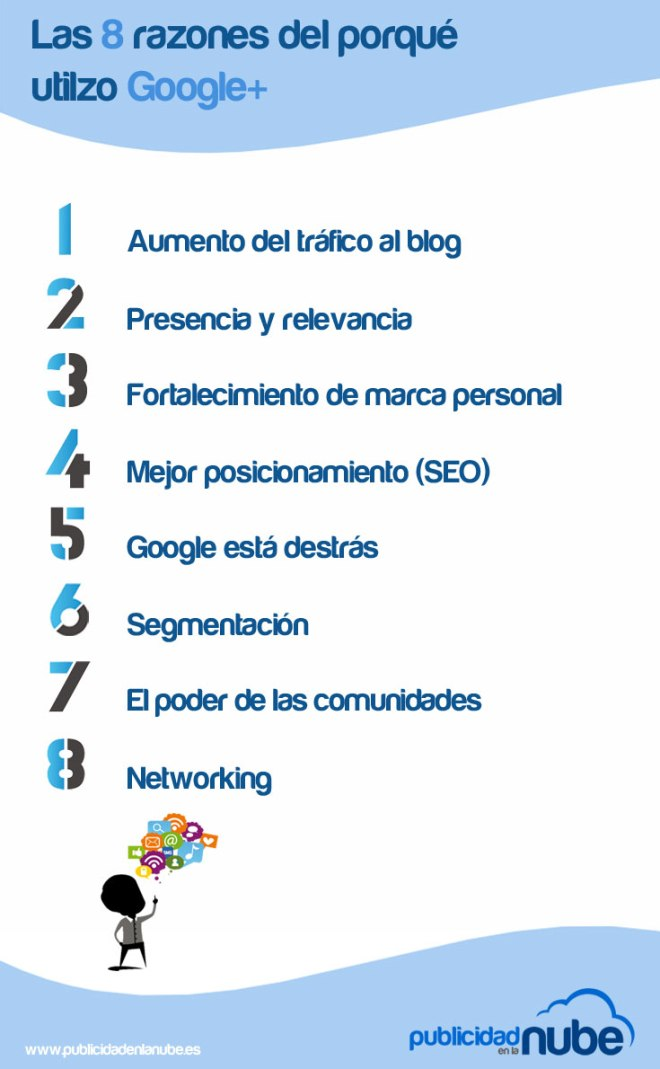 8 razones para usar Google +
