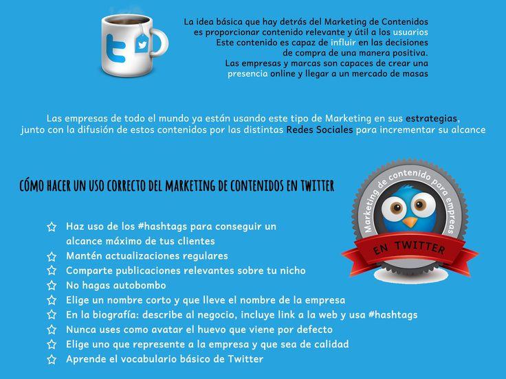 Uso correcto del marketing de contenidos en Twitter