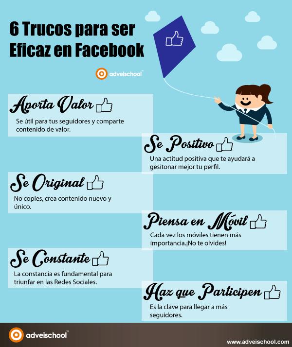 6 trucos para ser eficaz en FaceBook