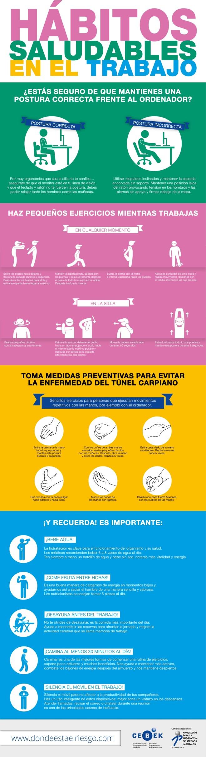 Hábitos saludables en el trabajo