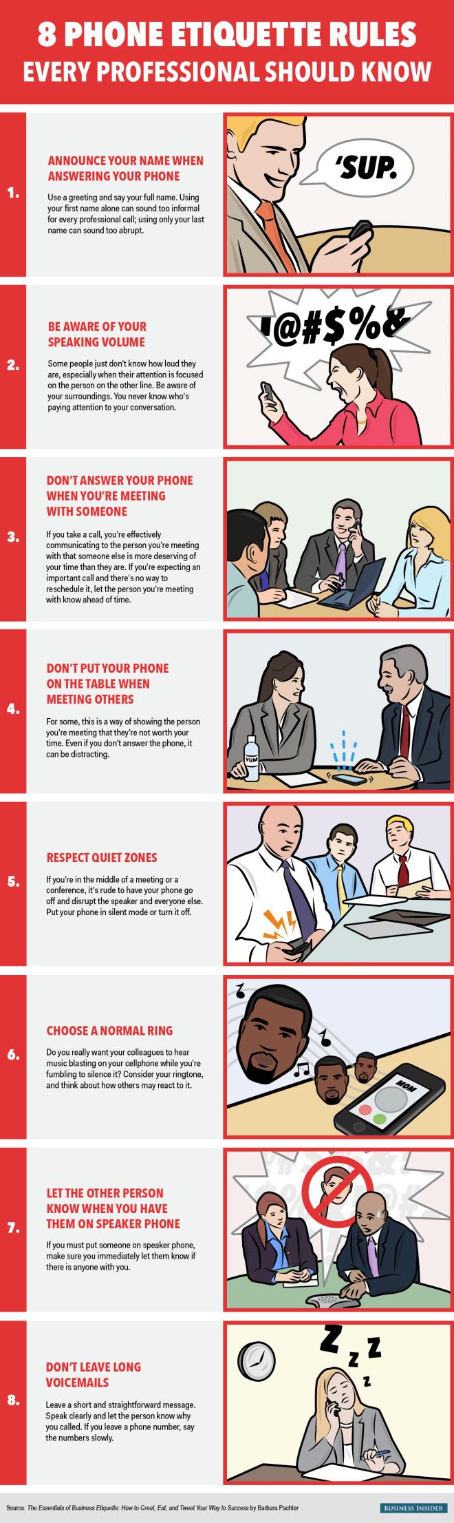 8 reglas que debes seguir al teléfono