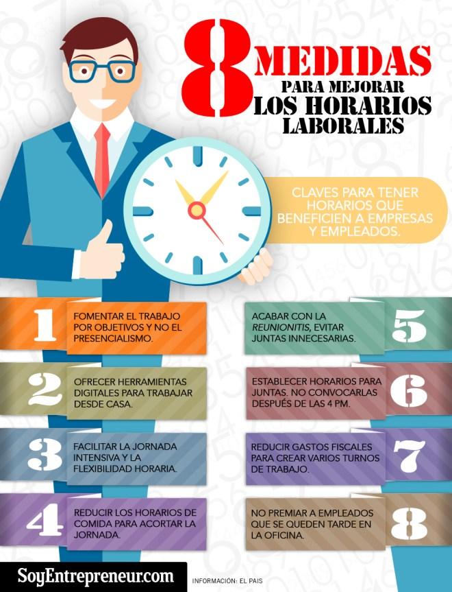 8 medidas para mejorar los horarios laborales