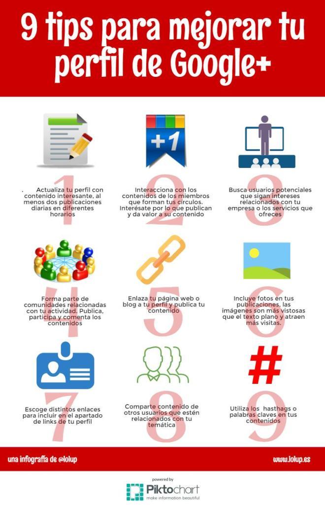 9 consejos para mejorar tu perfil de Google +