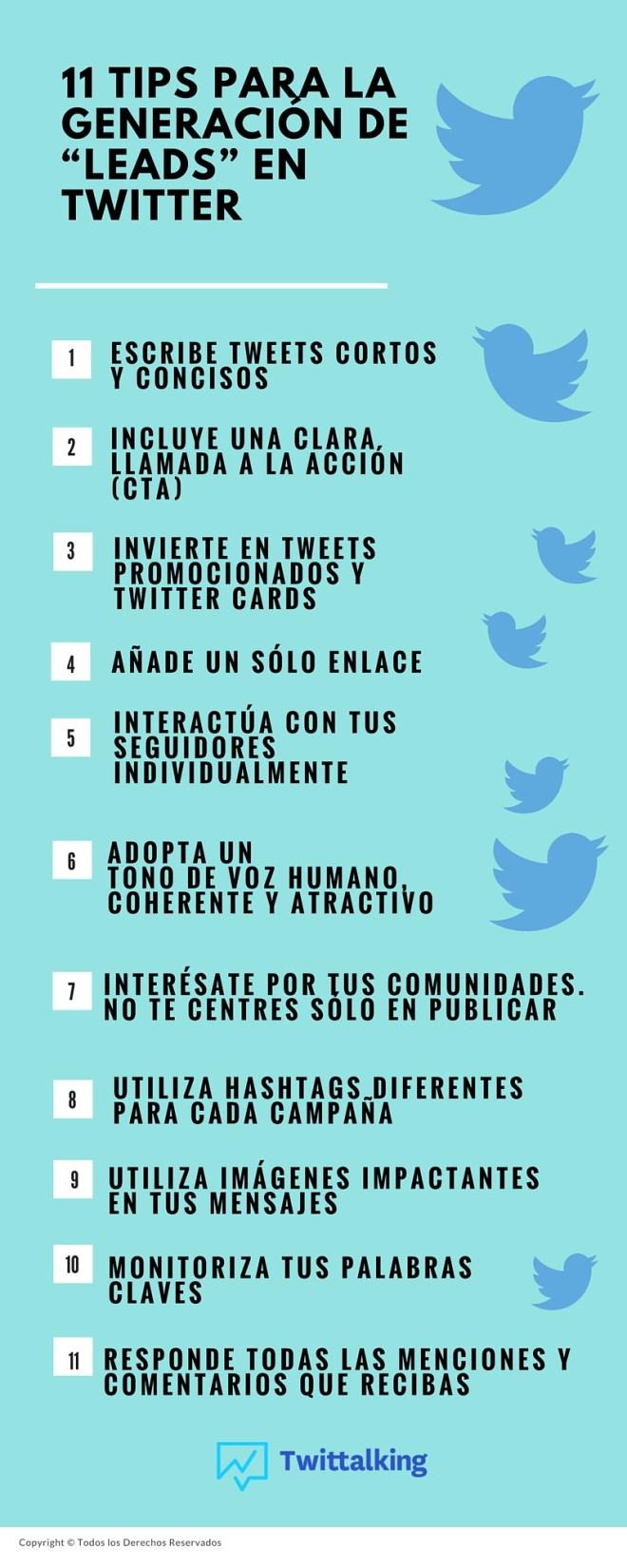 11 consejos para la generación de leads en Twitter