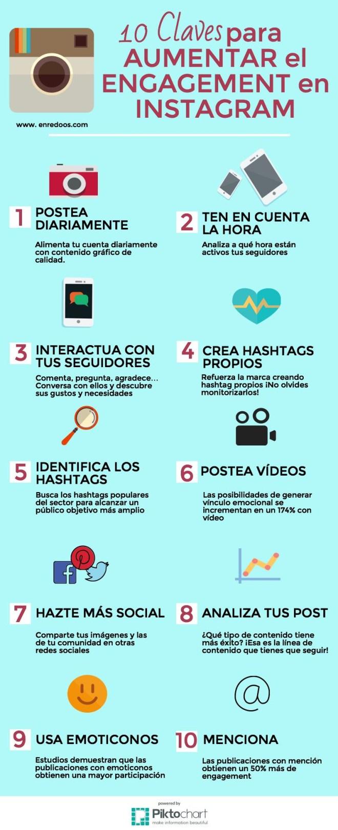 10 claves para aumentar el engagement en Instagram