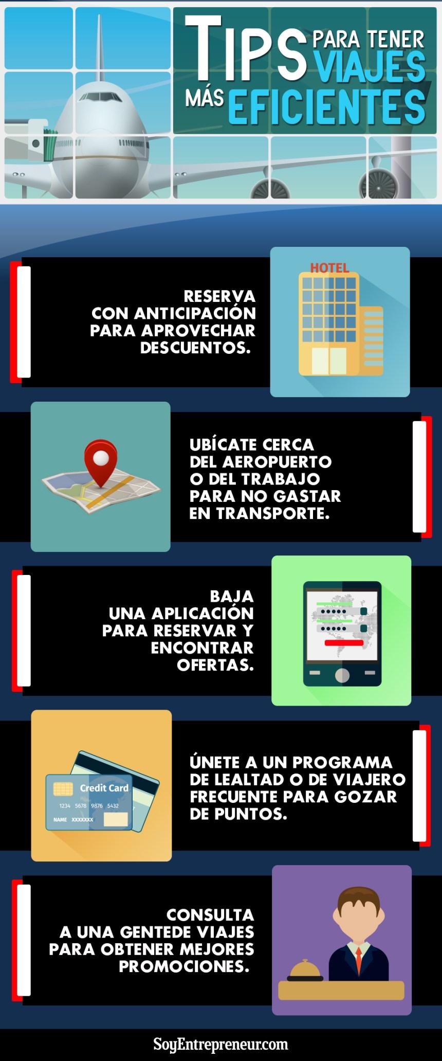 Consejos para viajes más eficientes