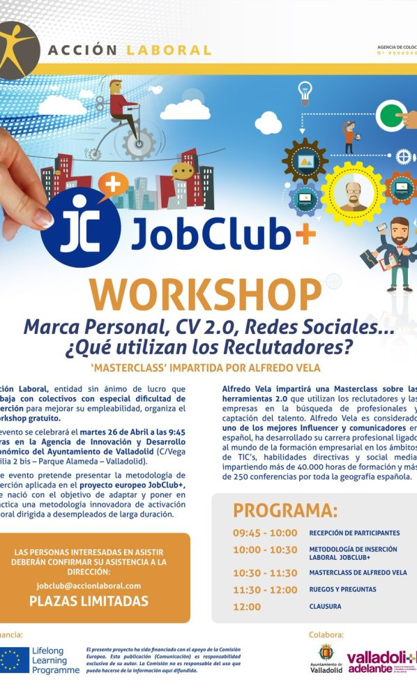 Valladolid (26/04/2016): Workshop #JobClub+ con