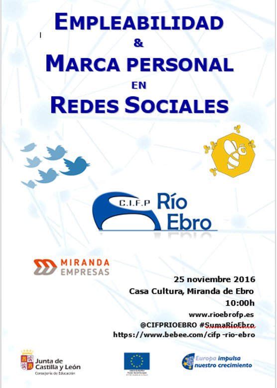 Miranda de Ebro (25/11/2016): Marca Personal en Redes Sociales