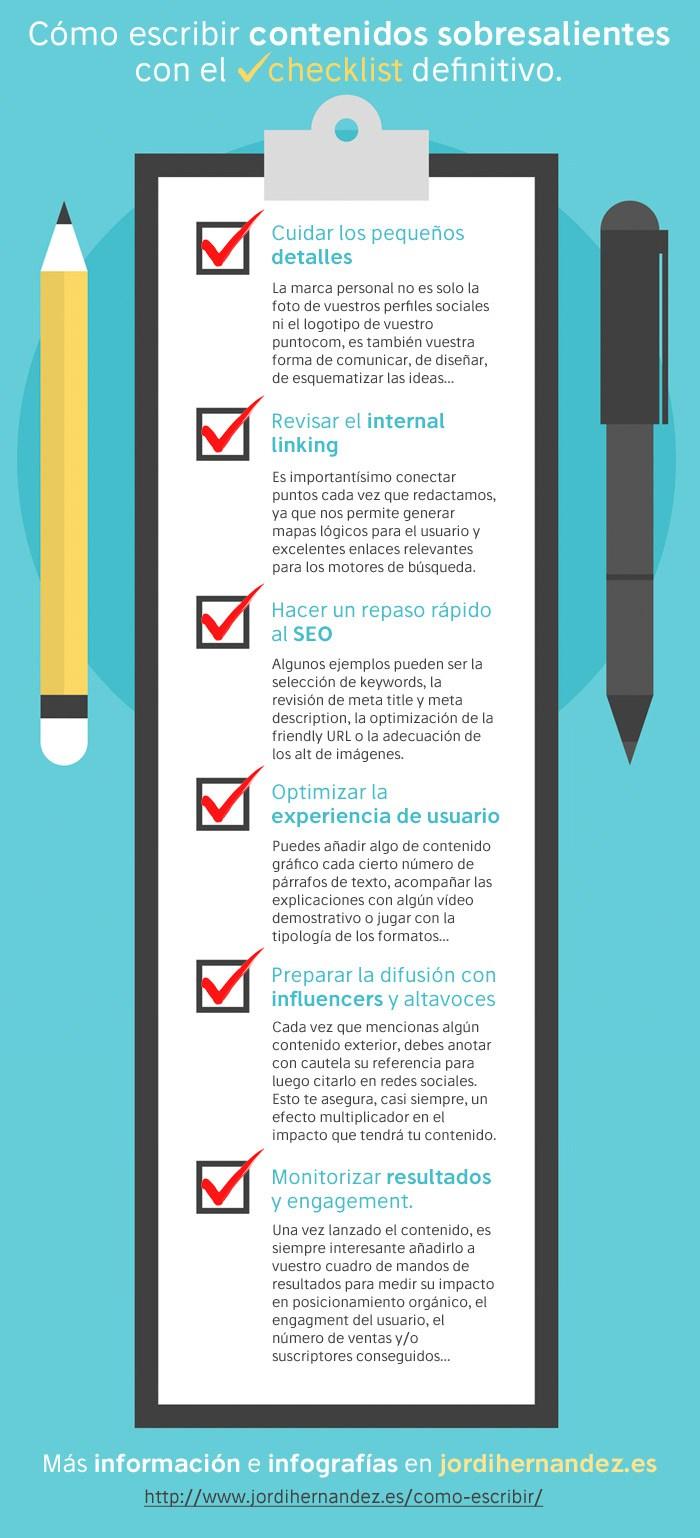 Checklist definitivo para Contenidos sobresalientes