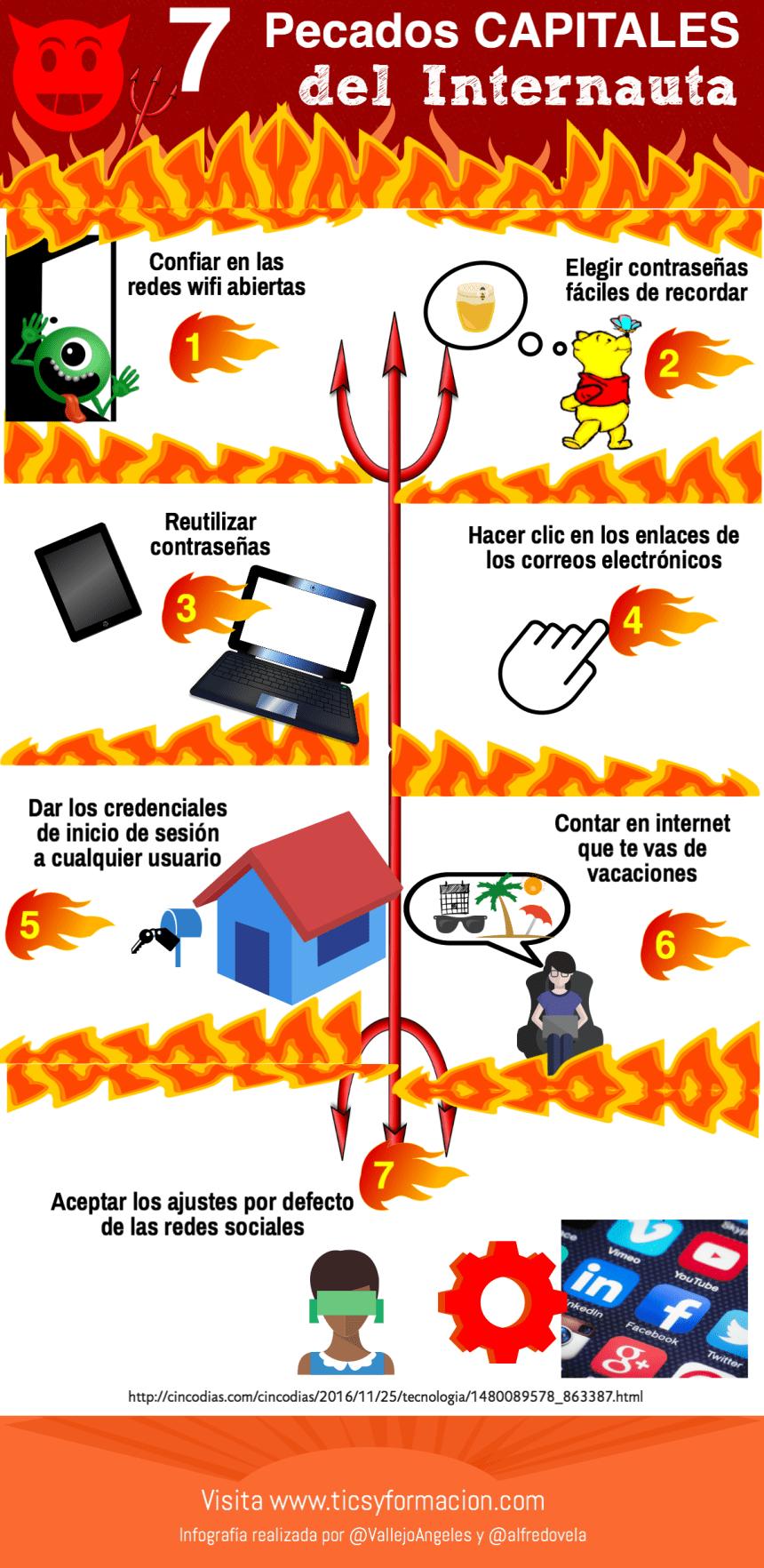 7 pecados capitales del internauta