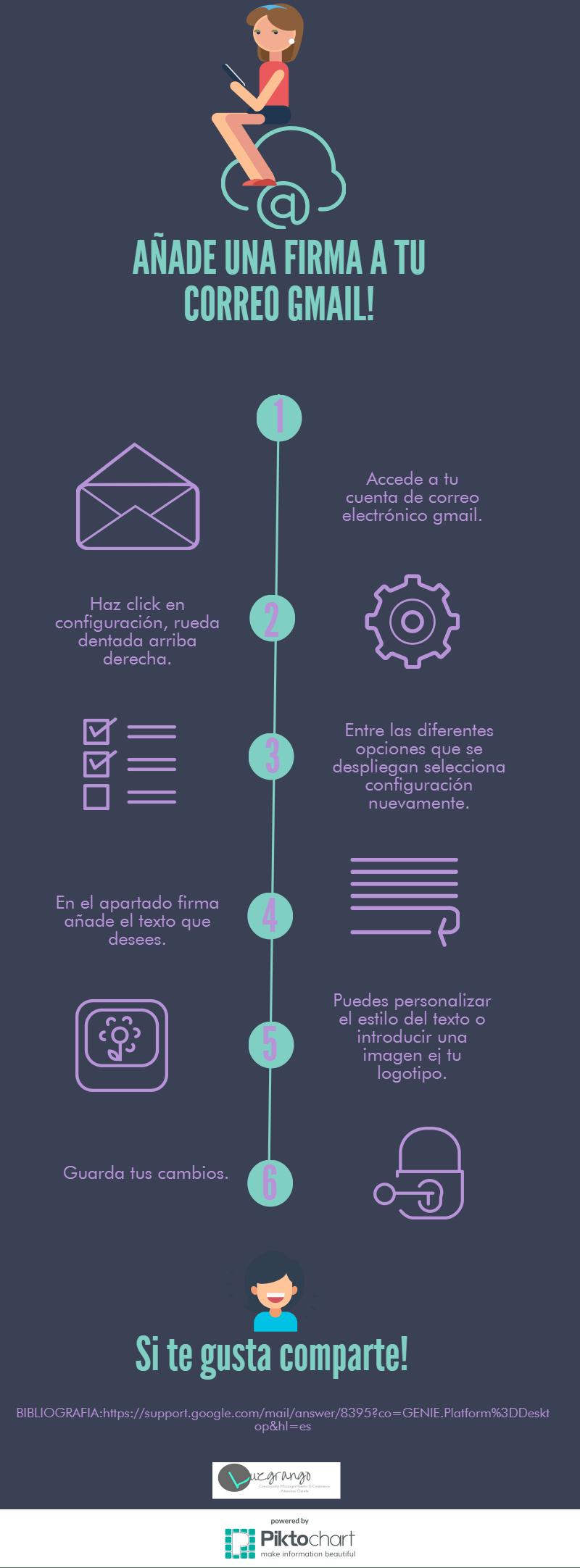 Añade una firma a tu correo Gmail