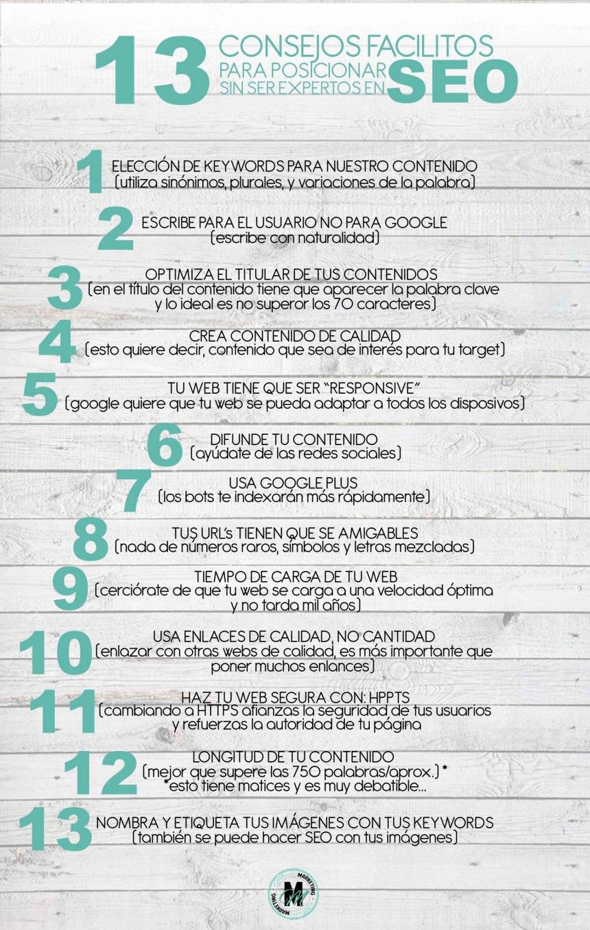 13 consejos sencillos para posicionar sin saber SEO