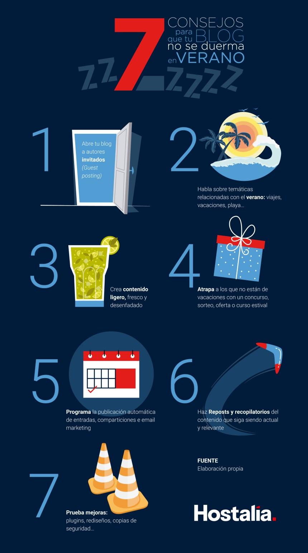7 consejos para que tu Blog no duerma en verano