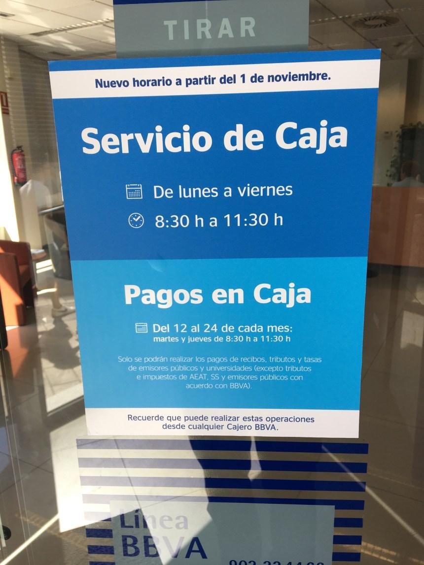 BBVA no quiere a los clientes en sus oficinas