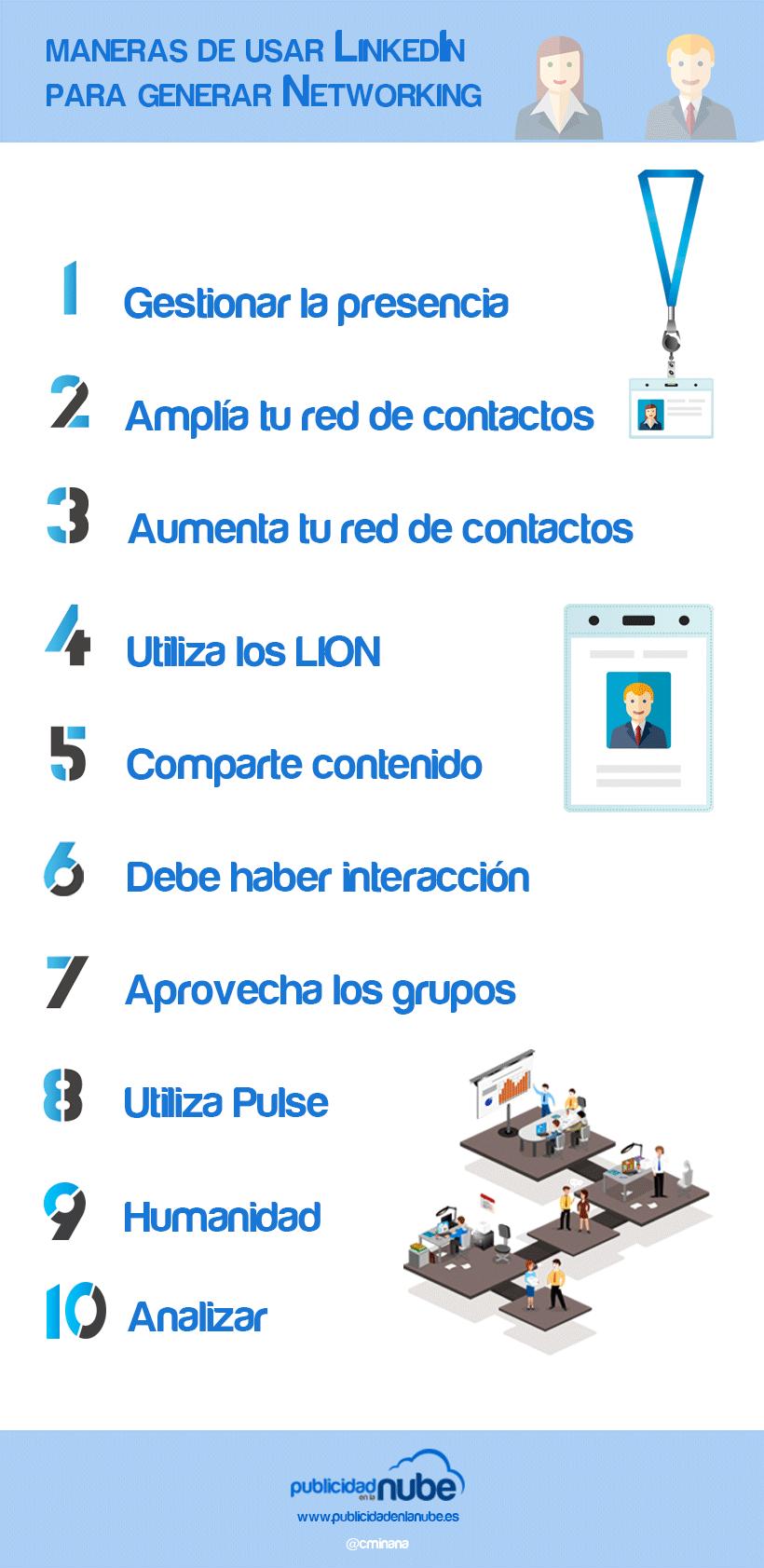 10 maneras de usar LinkedIn para generar networking