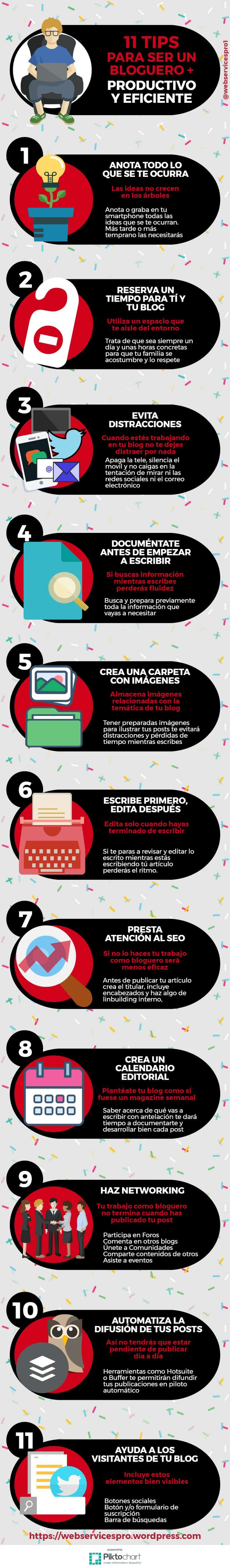 11 consejos para ser un bloguero más productivo y eficiente